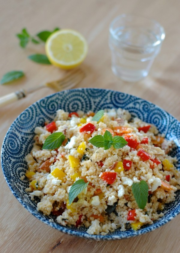 couscous salad recipes - refreshing mint salad
