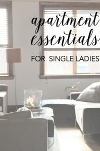 apartment essentials for single women