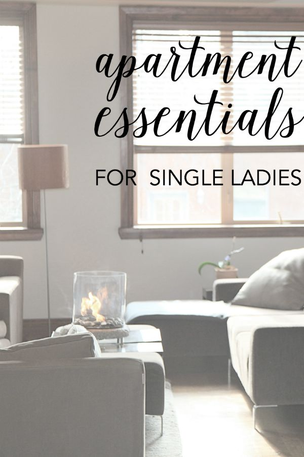 apartment essentials for single women