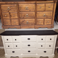 DIY White Painted Dresser
