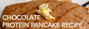 healthy chocolate protein pancake recipe