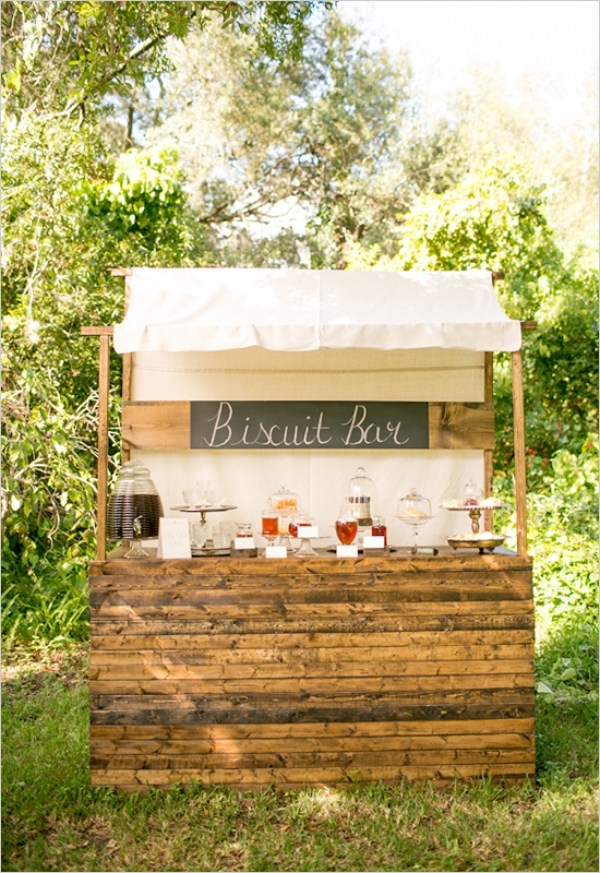biscuit bar for a shower brunch