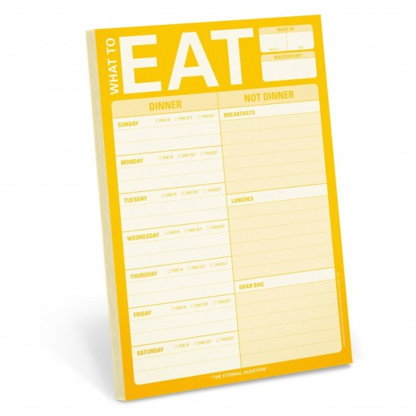 Knock Knock What to Eat Pad Meal Planning Pad