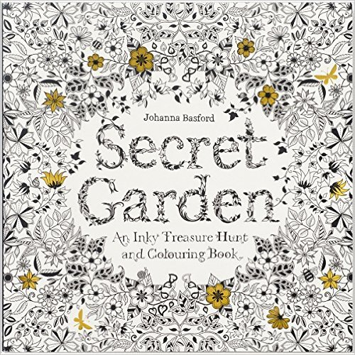 Secret Garden- An Inky Treasure Hunt and Coloring Book