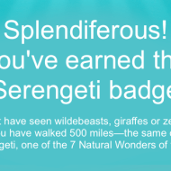 New Fitbit Badge: Serengeti (500 Miles)