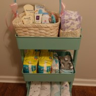 DIY Diaper Cart | Nursery Organization