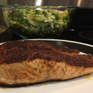 Blackened Salmon Caesar Salad Recipe