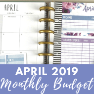 April 2019 Budget & Sinking Funds