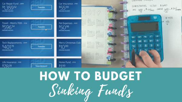 how to budget for sinking funds