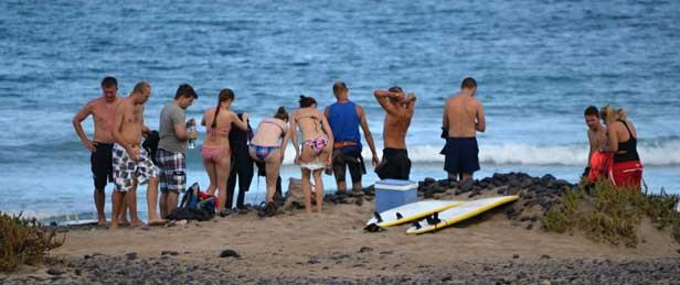 Surfování na Lanzarote
