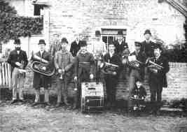 First photograph of Amersham Temperance Band on 28th July 1892 at Bendrose Farm Amersham