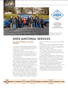 Image of the article about Ames Janitorial Services in Central Penn Business Journal.