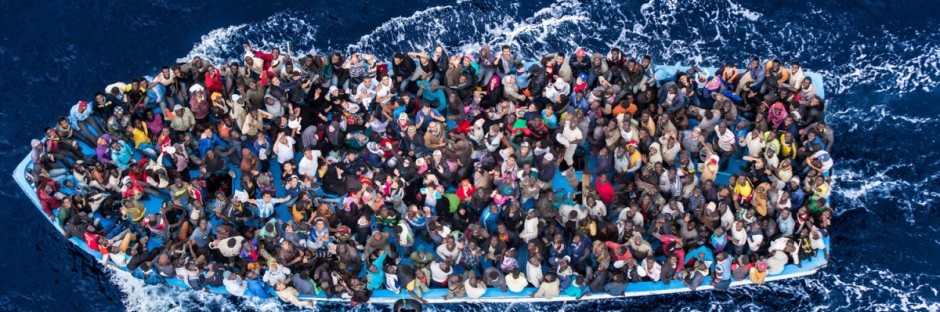 June 7, 2014 - Mediterranean Sea / Italy: Italian navy rescues asylum seekers traveling by boat off the coast of Africa. Photographer: Massimo Sestini/Polaris