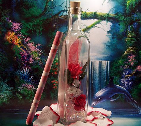Message in a Bottle Romantic Gift