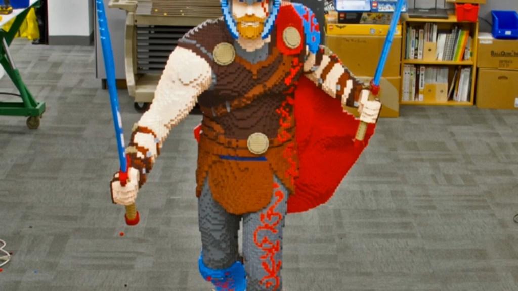 LEGO Thor Statue