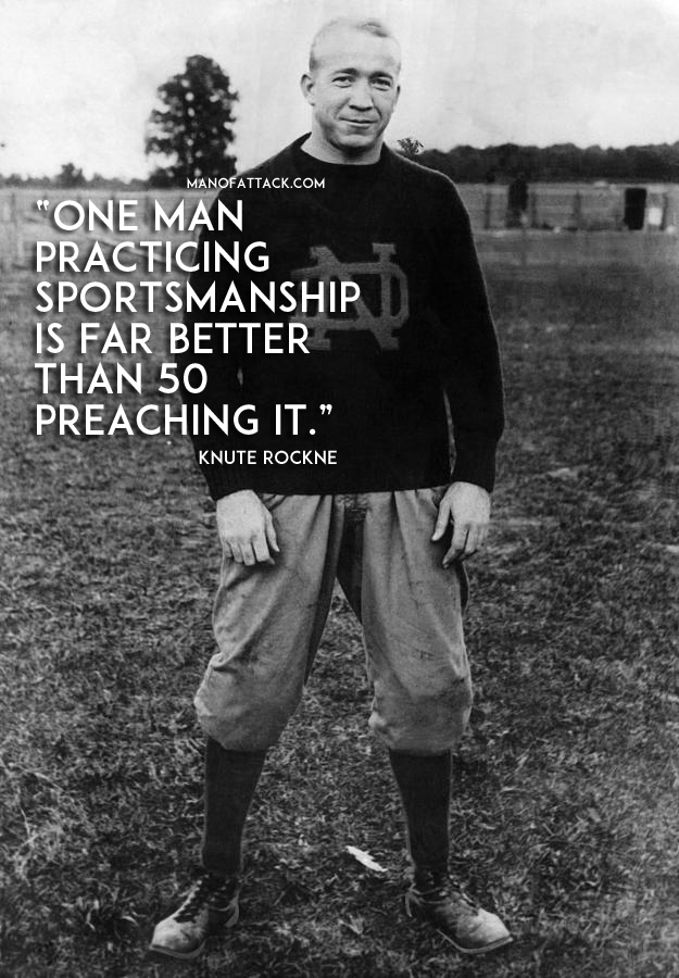 Knute Rockne Motivational Quote