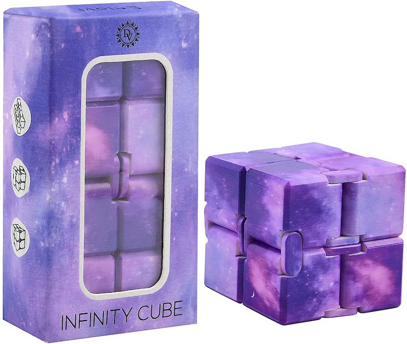 Sensory Toy For Kids Purple Galaxy Infinity Cube.
