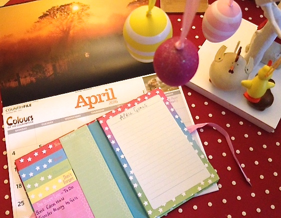 March Review/April Goals