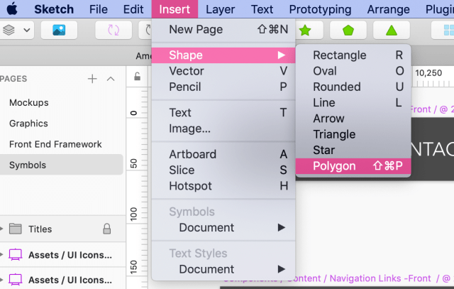 Screenshot of custom keyboard shortcut in Sketch's top toolbar