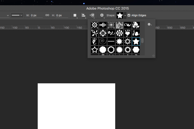 Screenshot of star shape in photoshop