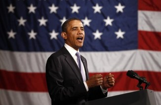 Obama speaks at a fundraiser in Philadelphia