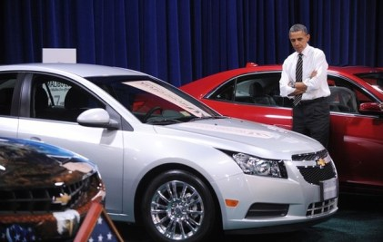 President Obama Visits The DC Auto Show