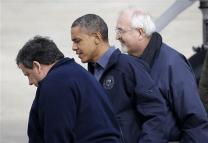 Christie and Obama Tour1