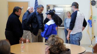 Christie and Obama Tour17