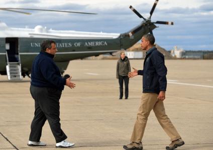 Christie and Obama Tour9