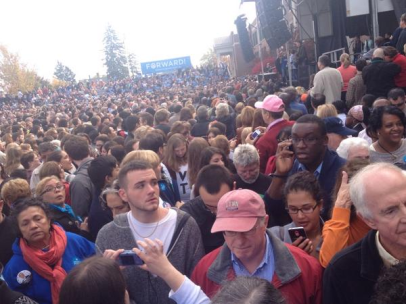 Waiting for the President in New Hampshire