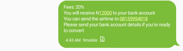 airtime to cash message 4