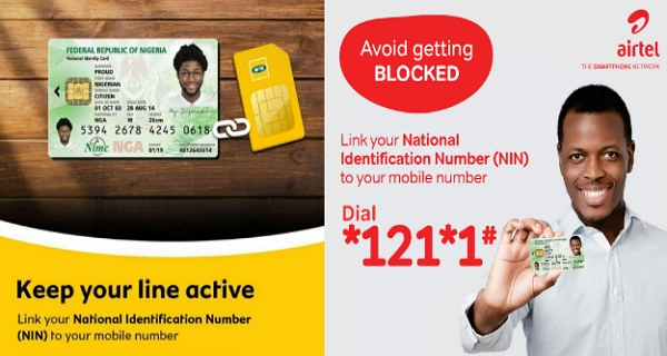 how to link nin to mtn, airtel, glo and etisalat