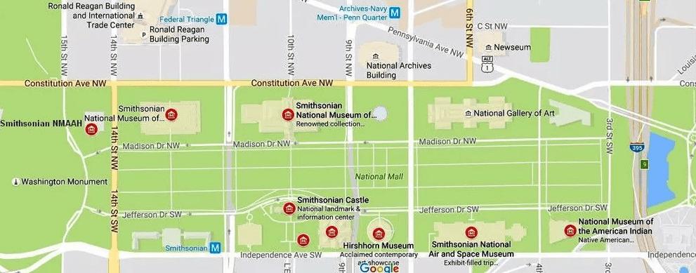 Путеводитель по Смитсоновским музеям в Вашингтоне, округ Колумбия