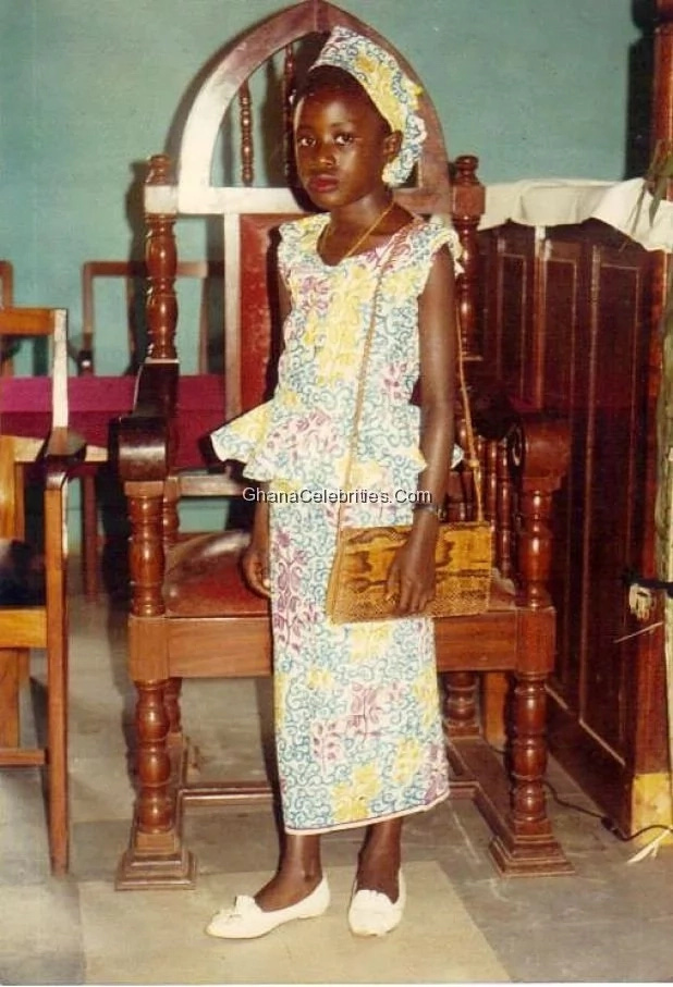 nana akua addo childhood photo