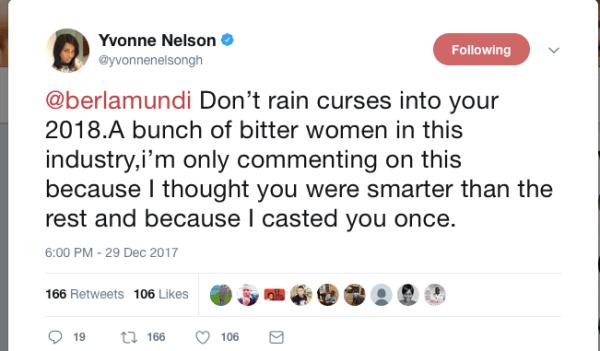 Yvonne Nelson slams Berla Mundi on Twitter, says she's ...