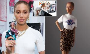 Ghanaian-British model Adwoa Aboah honored with her own Barbie doll.