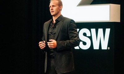 Playbook Hub Founder, Rudi Pienarr speaking at SXSW 2019 showcase
