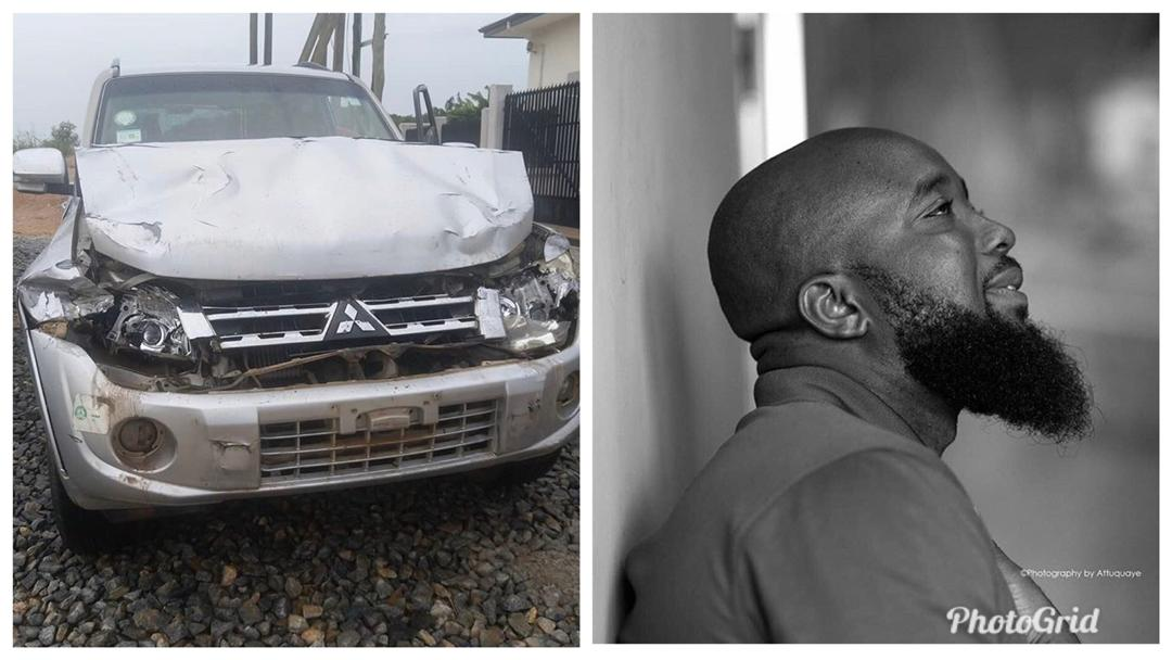 Pictures: Trigmatic safe after escaping a near-death accident