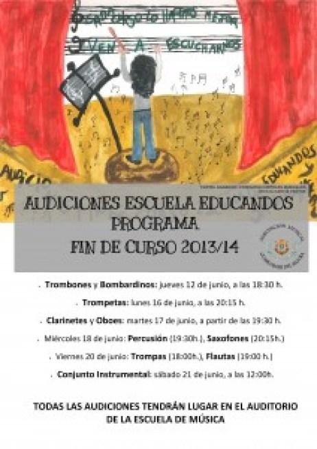 PROGRAMA DE AUDICIONES FIN DE CURSO ESCUELA DE EDUCANDOS