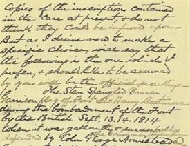 (Página 2) Carta de Eben Appleton a Charles Walcott, Secretario de la Institución Smithsonian, 1912