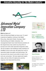Advanced metal Innovation company