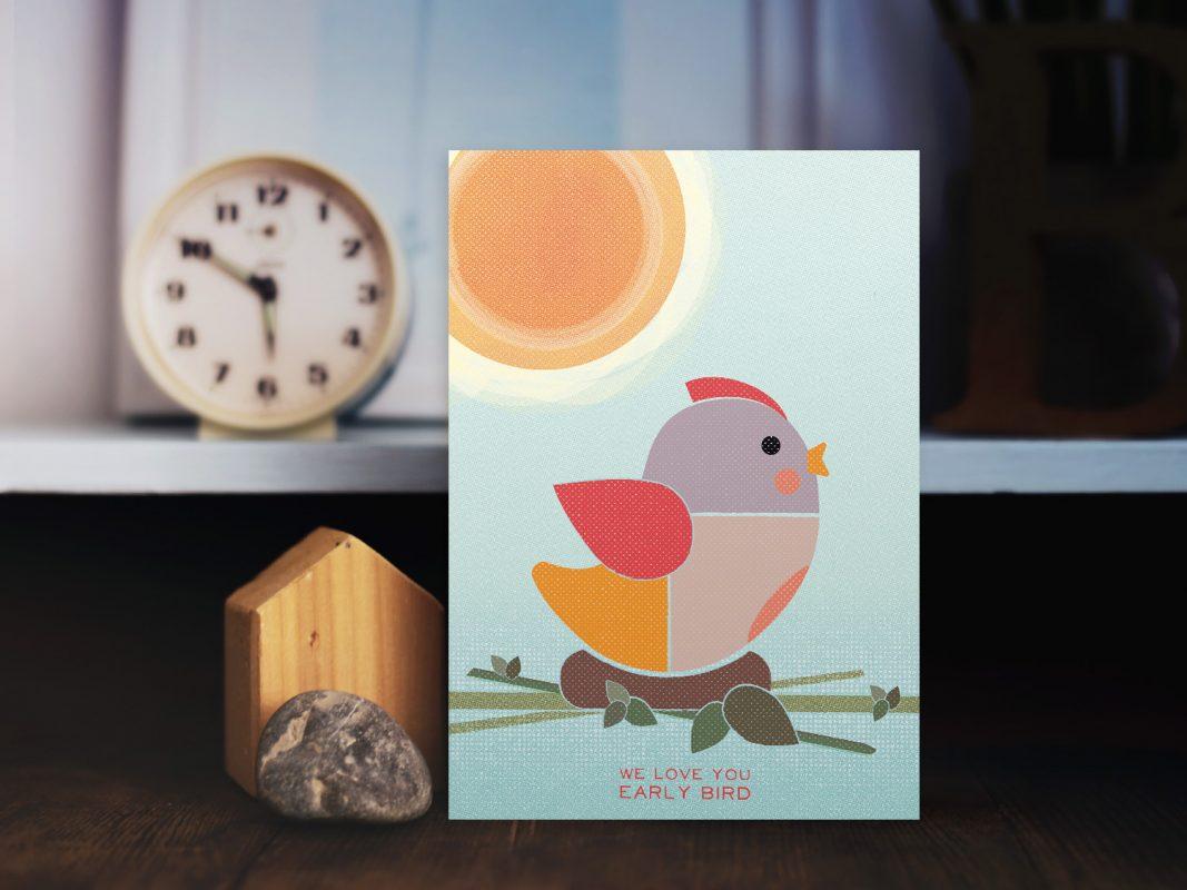 Grusskarte Love Early Bird