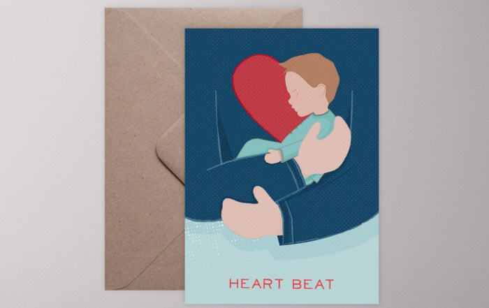 Klappkarte Heart Beat Boy