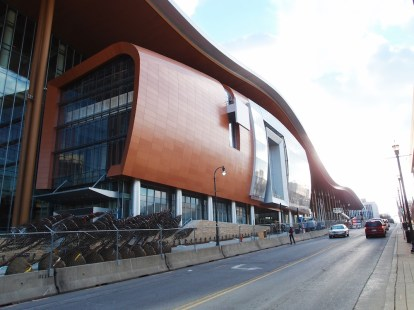 Hullámos tetejű épület - ez lesz az új convention center