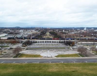 A park látképe