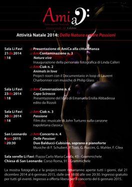 """Christmas 2014: """"Della Natura e altre Passioni"""" (poster)"""