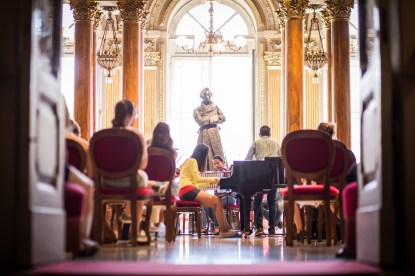 AmiCaFest 2017: Workshop with orchestra. Foyer of Teatro Massimo V. Bellini, Catania