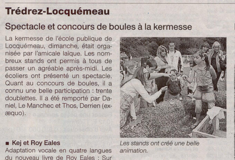 ouest france 18 juin 2009