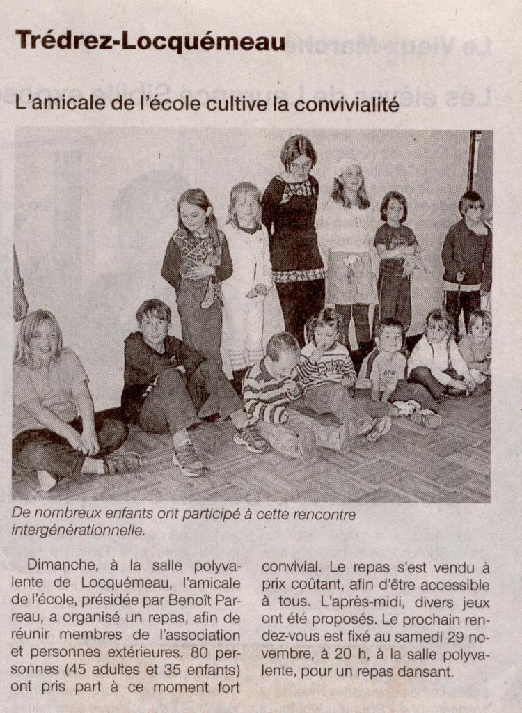 Ouest France 30 octobre 2008