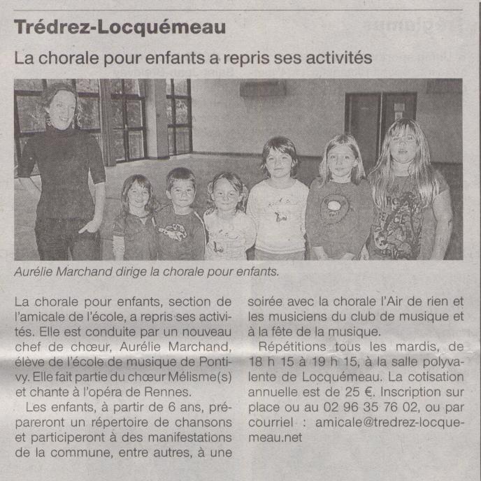 Ouest France 9 octobre 2009